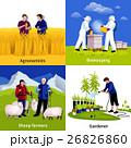 組み合わせ アイコン 農業のイラスト 26826860