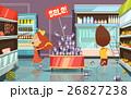 遊ぶ 子ども スーパーのイラスト 26827238