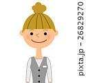 女性 OL 会社員のイラスト 26829270