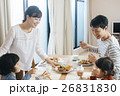 家族 食事 朝食の写真 26831830