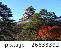 高知城と紅葉 26833392