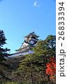 高知城と紅葉 26833394