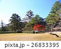 高知城と紅葉 26833395