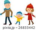 冬 家族 散歩 26833442