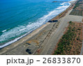 千葉県一宮町一宮海水浴場付近を空撮 26833870