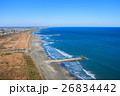九十九里一宮町釣ヶ崎海岸 一宮東浪見海岸周辺を空撮 26834442