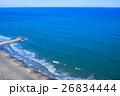 九十九里一宮町釣ヶ崎海岸 一宮東浪見海岸周辺を空撮 26834444