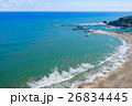 九十九里一宮町釣ヶ崎海岸 一宮東浪見海岸周辺を空撮 26834445