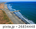 九十九里一宮町釣ヶ崎海岸 一宮東浪見海岸周辺を空撮 26834448