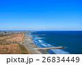 九十九里一宮町釣ヶ崎海岸 一宮東浪見海岸周辺を空撮 26834449