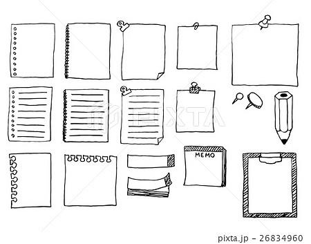 「メモ帳 イラスト」の画像検索結果