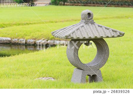 茶庭型石灯籠 -日本三名園 岡山後楽園- 26839326