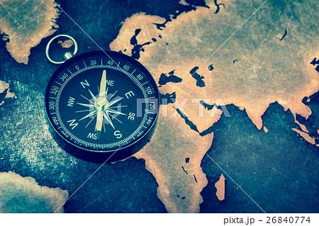 コンパス 世界地図 26840774