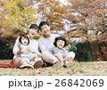 家族 笑顔 ピクニックの写真 26842069