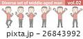 赤いニットを着た中年男性vol.02 26843992