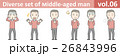 赤いニットを着た中年男性vol.06 26843996