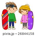 スノーボードする男女 26844158