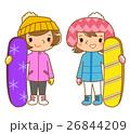 スノーボードする女性 26844209