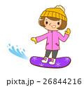 スノーボードする女性 26844216