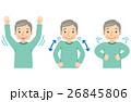 肩の体操 リハビリ 高齢者のイラスト 26845806