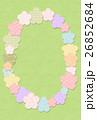 フエルト梅の花フレーム 26852684