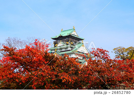 秋の大阪城 天守閣 26852780