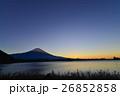 田貫湖湖畔、明けの富士山 26852858
