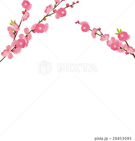 桃の花のイラスト素材 26853095 Pixta