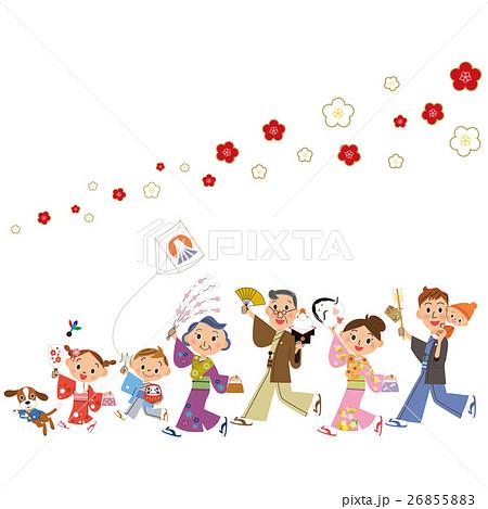 新年を祝う三世代家族 26855883