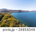 秋の支笏湖 湖畔(空撮) 26858348