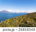 秋の支笏湖 湖畔(空撮) 26858349