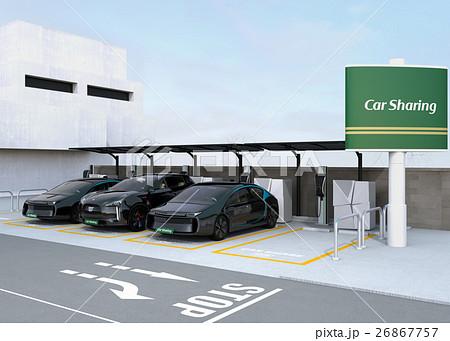 カーシェアリング専用駐車場のイメージ。 26867757