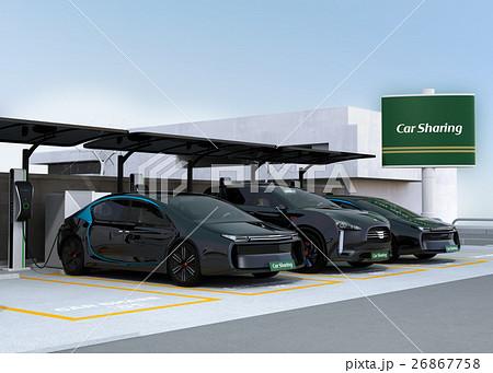 カーシェアリング専用駐車場のイメージ。 26867758