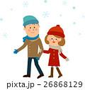 雪 降雪 カップル お出かけ 26868129