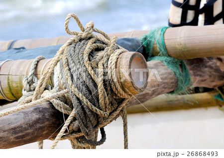 Rope on fishing shipの写真素材 [26868493] - PIXTA