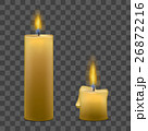 Candles with Fire Set on Transparent Background 26872216