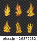 Fire Set on Transparent Background. Vector 26872232