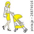 母親 赤ちゃん 親子のイラスト 26874016