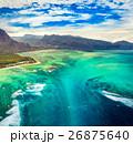 空撮 水中 モーリシャスの写真 26875640