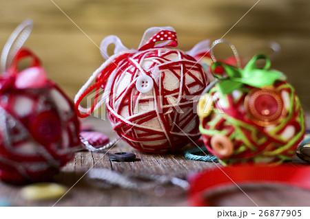 handmade christmas ballsの写真素材 [26877905] - PIXTA