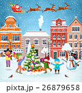 Christmas postcard with vintage street 26879658