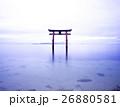 琵琶湖 風景 鳥居の写真 26880581