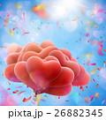 Valentine heart-shaped baloons. EPS 10 26882345