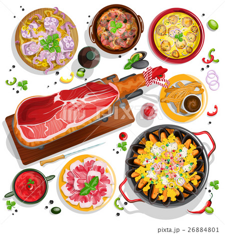 Spanish food collection 26884801