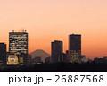 富士 夕景 高層ビルの写真 26887568