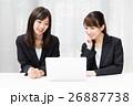 女性 人物 パソコンの写真 26887738