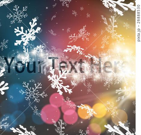 幻想的な冬の背景のイラスト素材 26888530 Pixta