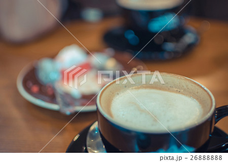Hot Coffee in black cup 26888888
