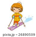 スキーをする女性 26890509