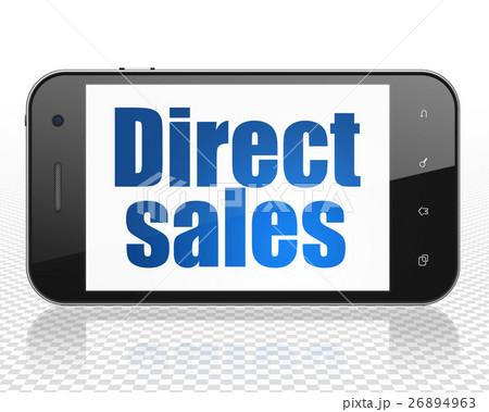 Marketing concept: Smartphone with Direct Sales onのイラスト素材 [26894963] - PIXTA